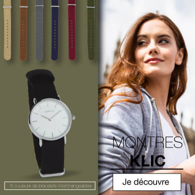 Montre bracelet interchangeable Klic