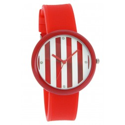 Montre Rayures rouges