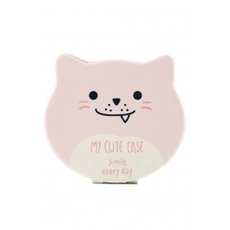 Miroir Chat rose