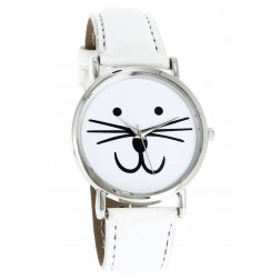 Montre Chat blanche