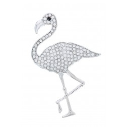 Broche Flamant strass aimantée