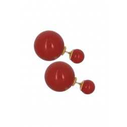 Boucles Picpus corail double perle