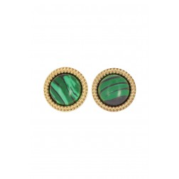Boucles Pierre Malachite