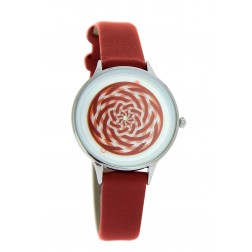 Montre Mandala rouge
