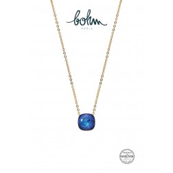 Collier Eva Cristal Bleu royal
