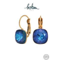 Boucles Eva Cristal Bleu royal