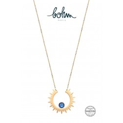 Collier Sun Cristal Bleu royal
