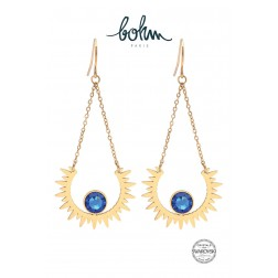 Boucles Sun Cristal Bleu royal