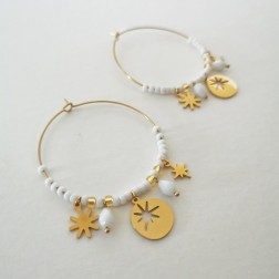 Boucles Frida blanches