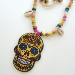 Collier Mexico moutarde