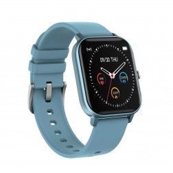 SmartWatch Sport rectangle bleue