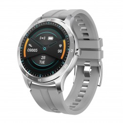SmartWatch Sport ronde grise