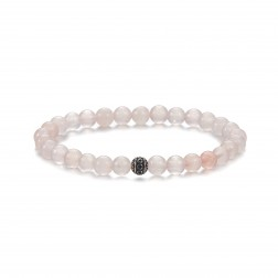 Bracelet Pierre Quartz rose 6m