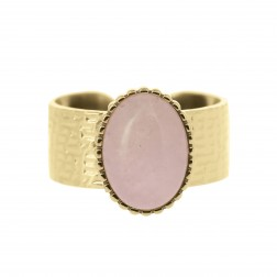 Bague Augustine Quartz rose