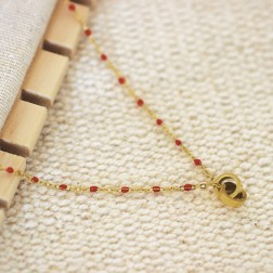Collier isia rouge