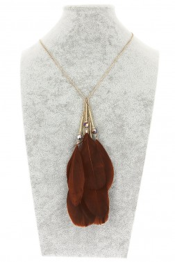 Collier Nina marron fonce