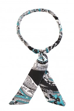 Collier Foulard turquoise