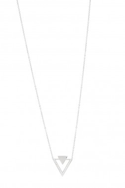 Collier Triangles acier