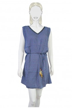 Robe Dragees bleue s