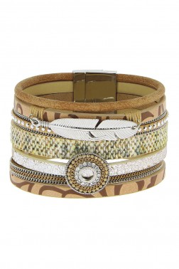 Bracelet Feuille marron