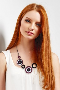 Collier Karola rouge