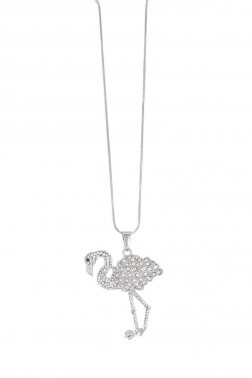 Pendentif Flamant strass